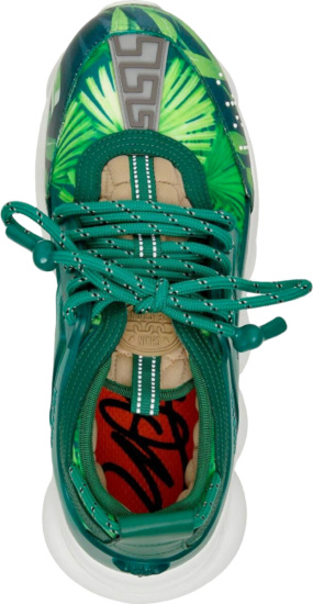 Versace Jungle Print Chain Reaction Sneakers