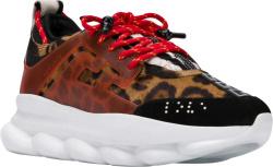 Versace Leopard Print Chain Reaction Sneakers