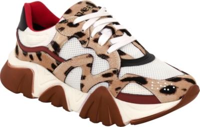 Versace Leopard Print Squalo Sneakers