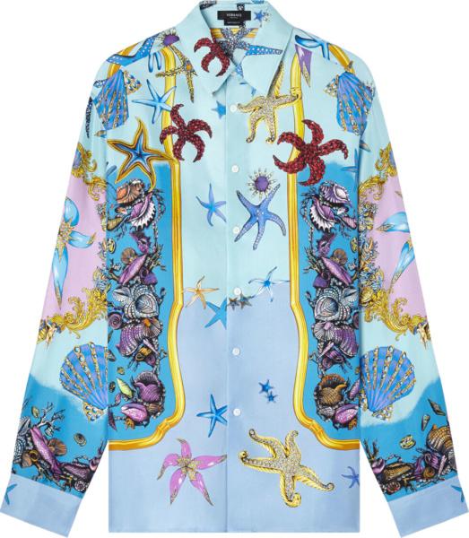 Versace Light Blue Tresor De La Mer Shirt