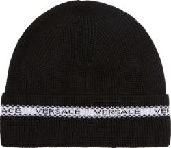 Versace Logo Stripe Black 'nostro' Beanie