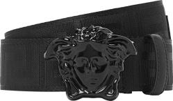 Versace Medua Head Nylon Belt Black