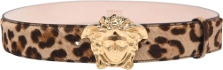 Medusa Head Leopard Print Belt