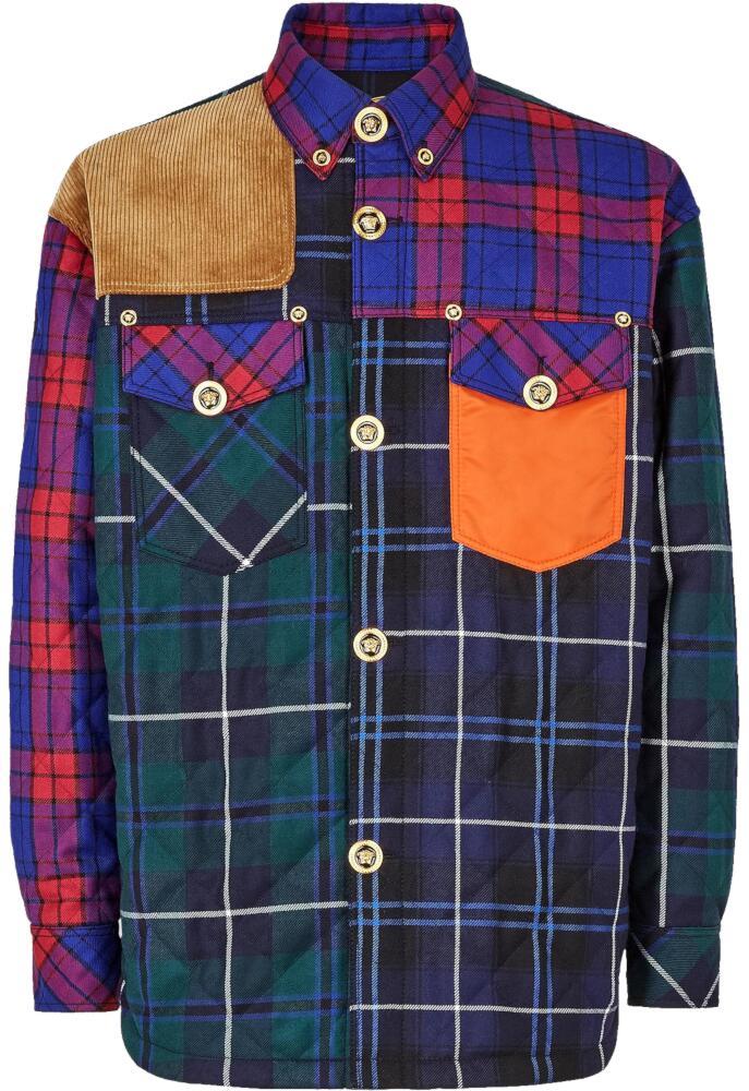 Versace Multi Patch Button Up Shirt