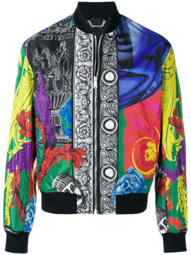 Versace Multicolored Baroque Printed Bomber Jacket Worn By Jacquees