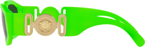 Versace Neon Green Medusa Biggie Sunglasses