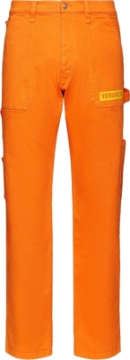 Versace Orange Oversized Jeans