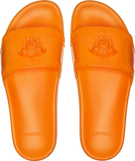 Versace Orange Palazzo Medusa Head Logo Slides