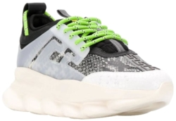 Versace Snake Print Chain Reaction Sneakers