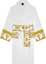 Versace White And Gold Trim I Heart Baroque Robe Zacj00008 Zcosp052 Z4001