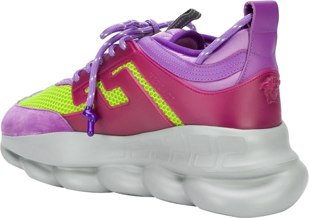 Yellow & Purple 'Chain Reaction' Sneakers