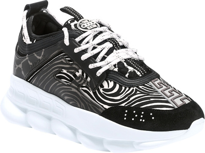 Versace Zebra Print Chain Reaction Sneakers