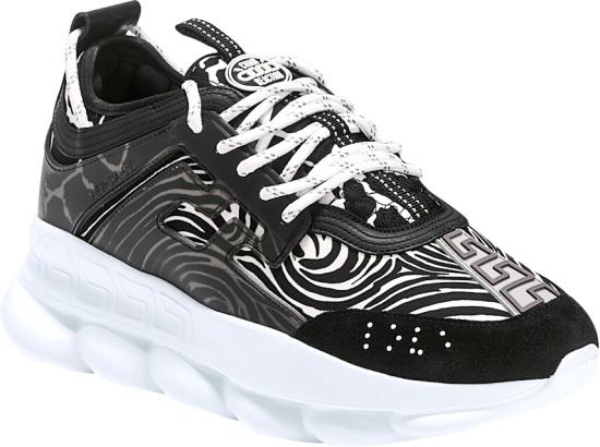 Versace Zebra Print Chain Reaction Sneakers