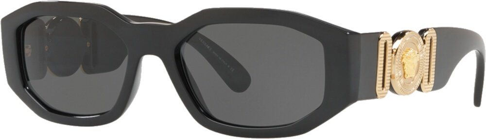 Verszce Black Hexagon Sunglasses