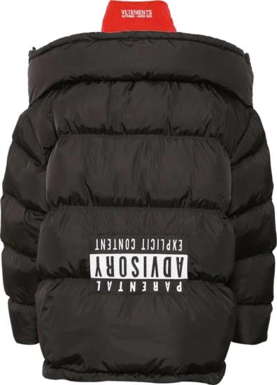 Vetements Parental Control Puffer Jacket