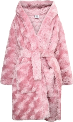 Vetements Pink Fur Coat