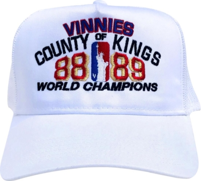 Vinnies Country Of Kings White Trucker Hat