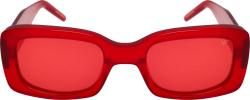 Vintage Frame Company Red Translucent Sunglasses