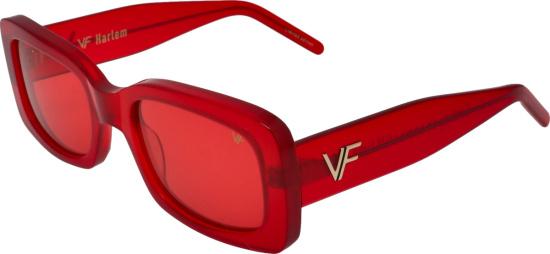 Vintage Frames Red Vf Harlem Sunglasses