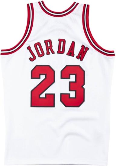 Vintage White Chicago Bulls Jersey