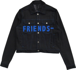 Vlone Black And Blue Friends Denim Jacket