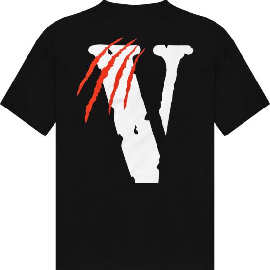 Vlone Black V Scratch Logo T Shirt