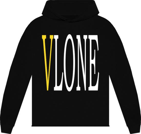 Vlone Black Yellow Staple Hoodie