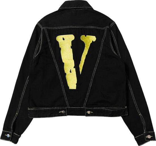 Vlone Black Yellow Trucker Jacket