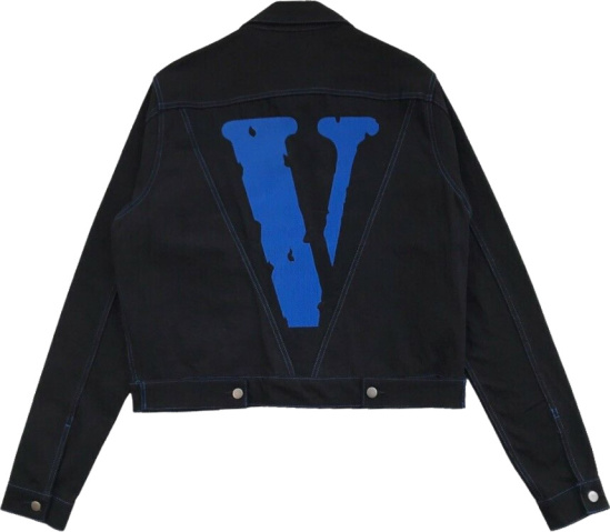 Vlone Blue Embroidered Friends Denim Jacket