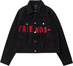 Vlone Red Black Friends Denim Jacket.jpga