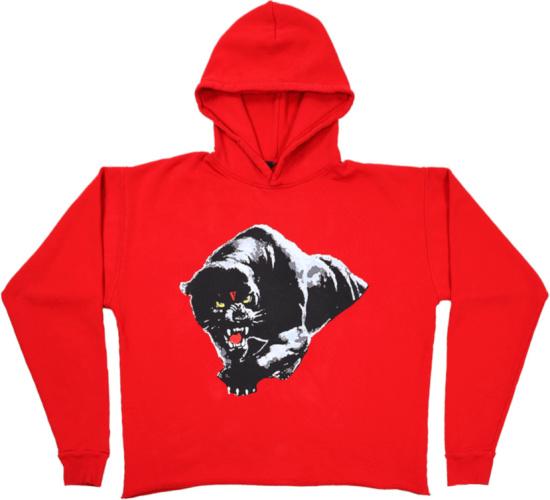 Vlone Red Panther V Logo Hoodie