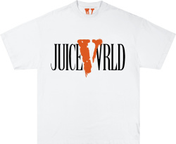 Vlone X Juice Wrld White Spray Logo T Shirt