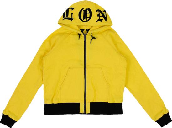 Vlone Yellow Zip Hoodie
