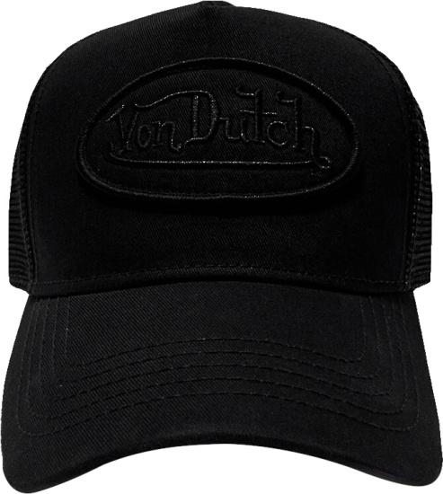 Von Dutch All Black Trucker Hat