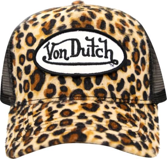 Von Dutch Leopard Trucker Hat
