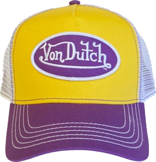 Von Dutch Purple And Gold Trucker Hat