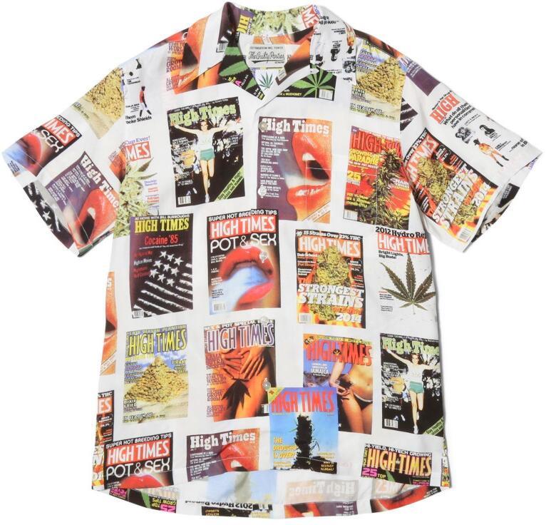 Wacko Maria X High Times Magazine Cover Print Shirt