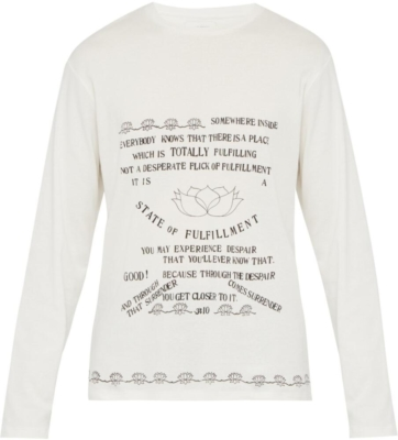 Wales Bonner Fulfillment Print T Shirt