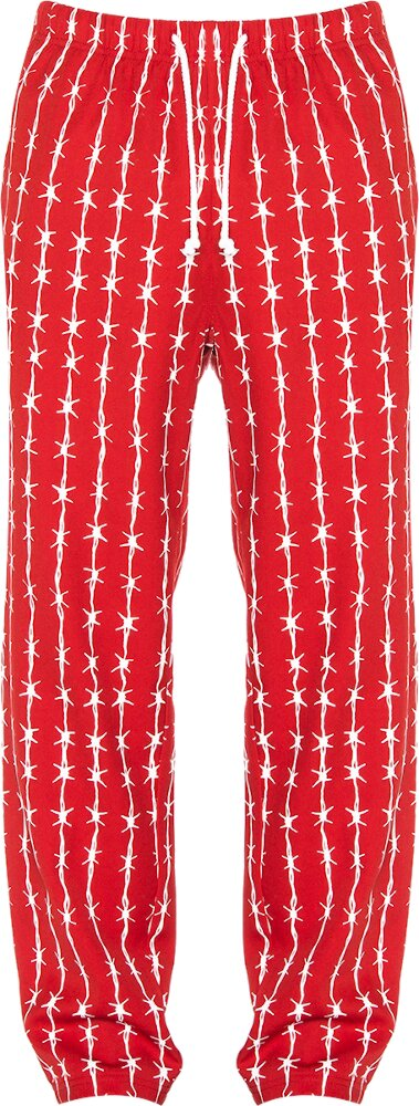 Warren Lotas Red Barb Wire Pants
