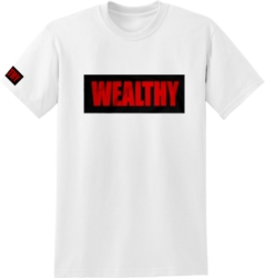 The Wealthy Brand Red & Black Logo Print T-Shirt