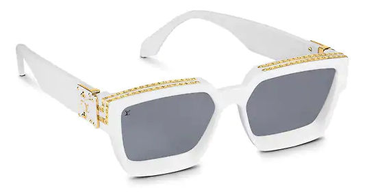 White 1.1 Millionaires Sunglasses With Gold Trim Details Worn By Tyga