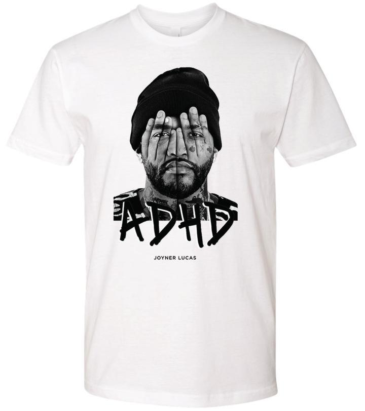 White Adhd Print Joyner Lucas Merch T Shirt