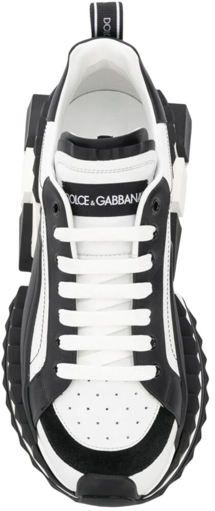 Black and White 'Super King' Sneakers