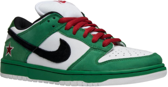 finest selection f49e3 40db1 Nike Dunk Low Pro SB 'Heineken' Sneakers | Incorporated Style