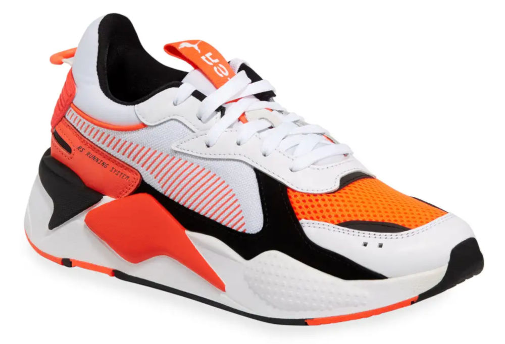 White And Orange Puma Sneakers Worn By A Boogie