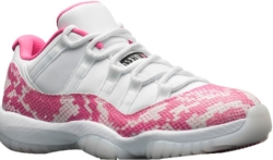 White And Pink Snakeskin Jordans