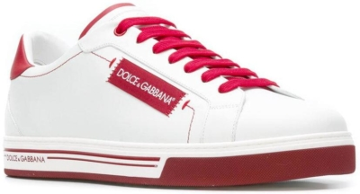 White And Red Dolce And Gabbana Roma Sneakers Worn By Gucci Mane