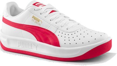 White And Red Puma Sneakers Worn By Lil Durk