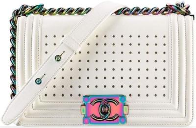 White Chanel Lightup Led Bag