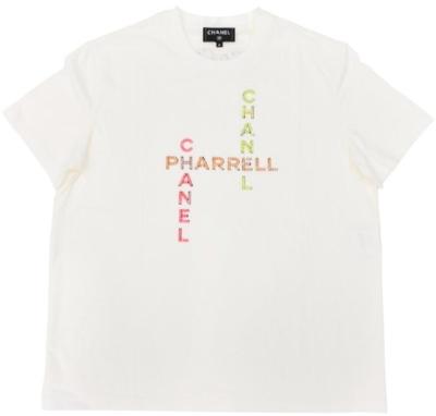 White Chanel Pharrell Crystal T Shrit